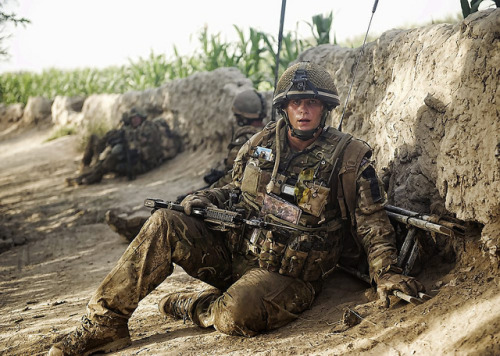joshselway:  A Soldier From 1 Rifles Rests Following an Engagement with the Enemy in Afghanistan by Defence Images on Flickr.