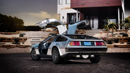 "prostheticknowledge:  DeLorean DMC-12 to go into production by 2013 From the DeLorean website:  ""This sucker's Electrical??"" Yes! You're looking at the brand-new, all-electric DeLorean which debuted at the DMC Texas – Open House Event Oct.14th, 2011. For several years, DeLorean Motor Company of Texas has been  reconstituting the fruit of John Z. Deloreans's troubled loins  (phrasing!). Now we are working with electric-car startup Epic EV to put  an all-electric DMC-12 into production by 2013.  Flux Capacitor unconfirmed. More images here  Whoa, this is heavy."