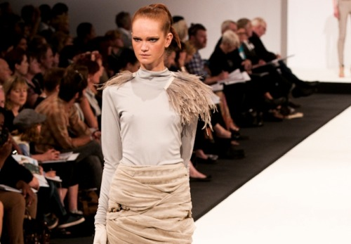 namal: Rebecca Ellwood, University East London at Graduate fashion week 2011. For more see Rebel Magazine's Graduate Collections issue.