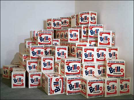 Mike BildoNot Wahol (85 Brillo Boxes, 1970), 1991