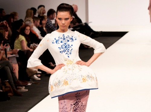 namal: Le Thuy Le Thi, University East London at Graduate fashion week 2011. For more see Rebel Magazine's Graduate Collections issue.