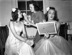 Getting pretty for the dance 1930s.