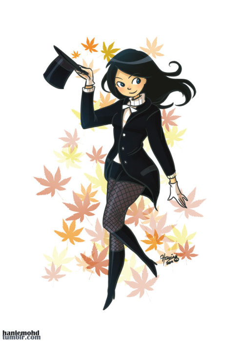 haniemohd:  Autumn Zatanna! With the appropriate warm attire of course :D