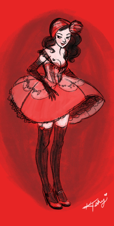 (via Burlesque in Red by ~ktshy on deviantART)