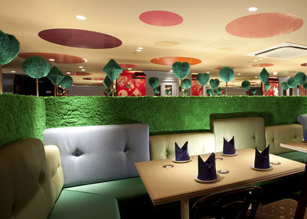 Alice in Wonderland themed restaurant.