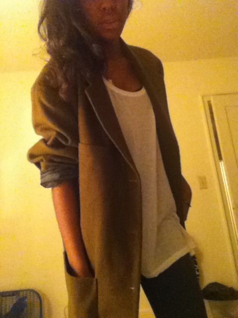 just got a vintage blazer for $6 it's huge af nd because the weather is still warm I have to wait awhile to wear it :/