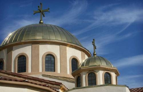 Main dome of St. Andrew Orthodox Church in Riverside, California. Photo: David Bauman, Press Enterprise.