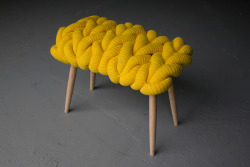 krgkrg:  Knit stool by Claire-Anne O'Brie.