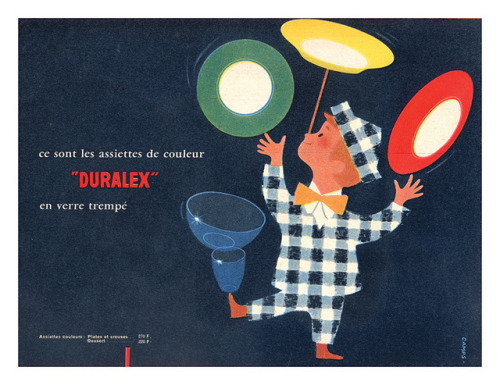 Vintage ad for Duralex, via My Vintage Avenue. From my blog post HERE.