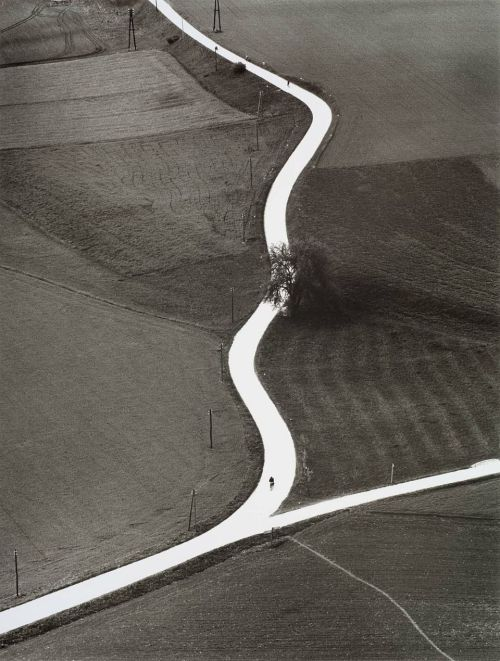 Landscape with road in Kärnten, 1957 by Toni Schneiders