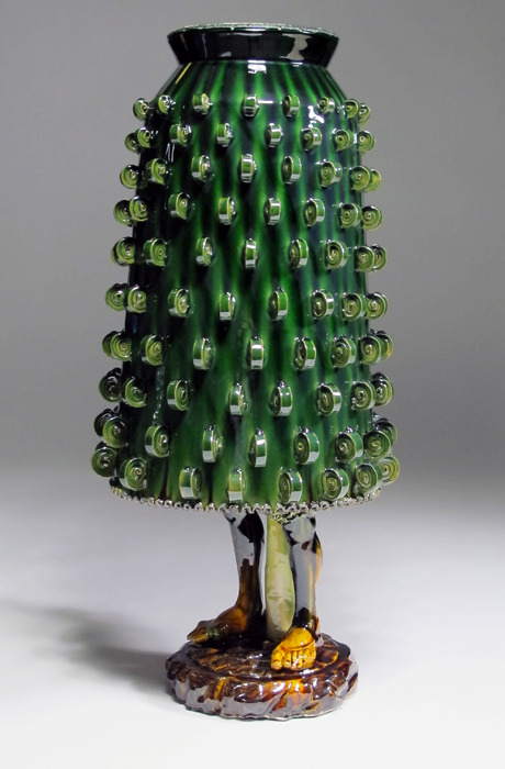 Green  Dream, Earthenware with translucent glazes, 2011 by Matthew Groves