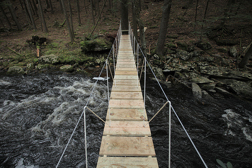 zachklein:     Jace's Bridge completed over Beaver Brook (by dr. rob)   I'm dying to one day have a project as big and awesome as Zach's property at Beaver Brook!