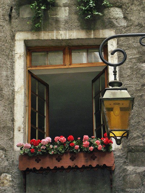 | ♕ |  Lovely window in Annecy  | by © Michele*mp | via ysvoice