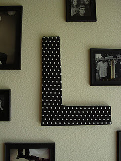 Cute letter wall art! A cool way to reuse Styrofoam. (via Rubies and Pearls)