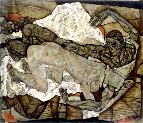 Egon Schiele, Man and Woman I (Lovers I) 1914