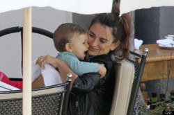 Penelope Cruz and her son, Leo