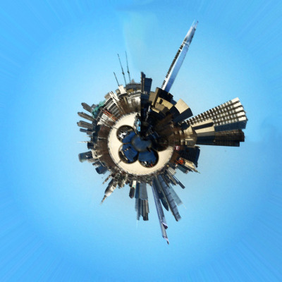 "Using a Panorama of London I created ""Planet London""Here is the original Panorama: http://tinyurl.com/6jnhzbh"