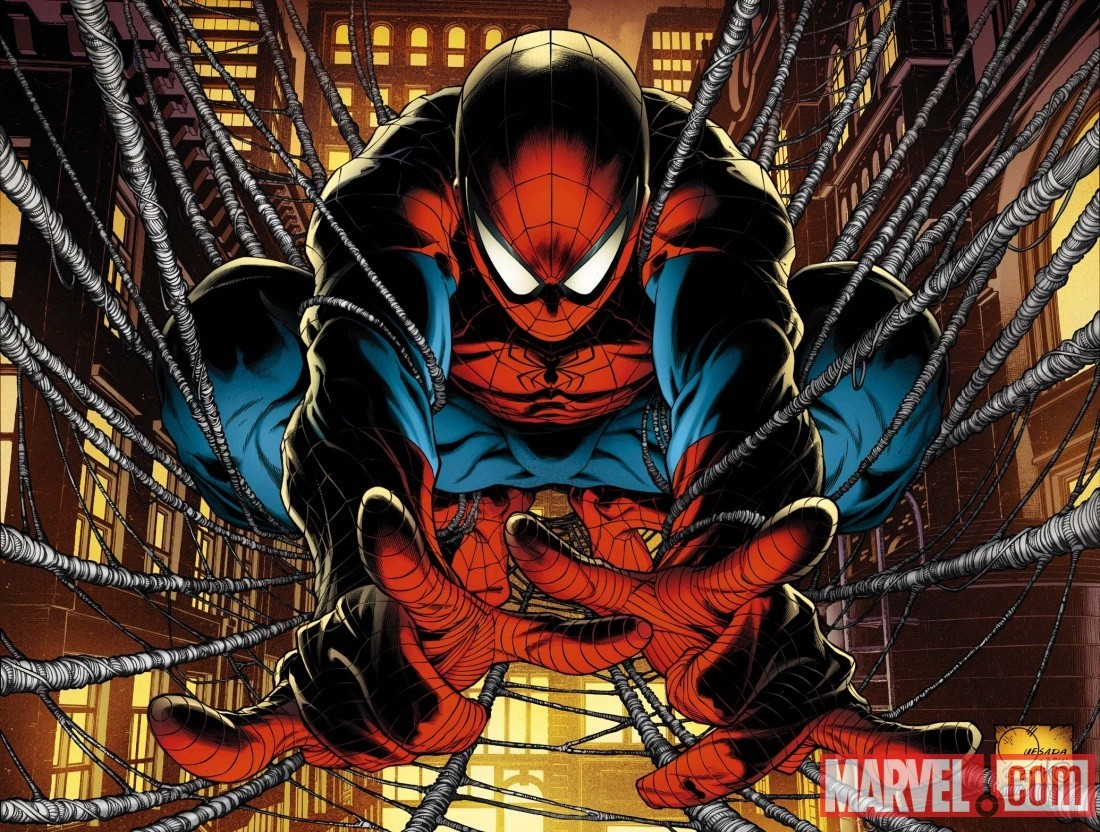 Joe Quesada's cover to AVENGING SPIDER-MAN #1. I don't know, I should probably just rename my blog the Joe Quesada Art Blog, considering I feel like I post just about every piece of art of his that shows up on the Internet.