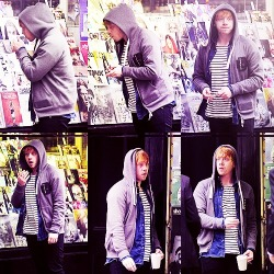 Rupert Grint in Soho on October 17th  This guy looks like Seth. lol