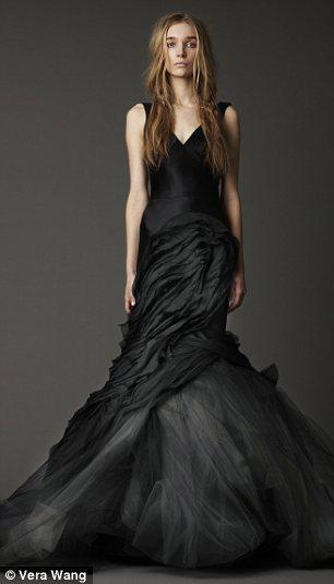 Fashion dress beautiful gorgeous black amazing wedding for Black designer wedding dresses