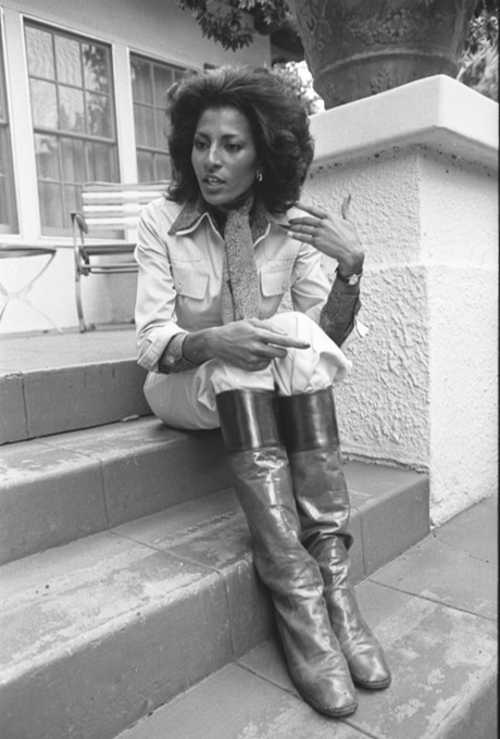 superseventies:  Pam Grier photographed for the Los Angeles Times, January 1976.