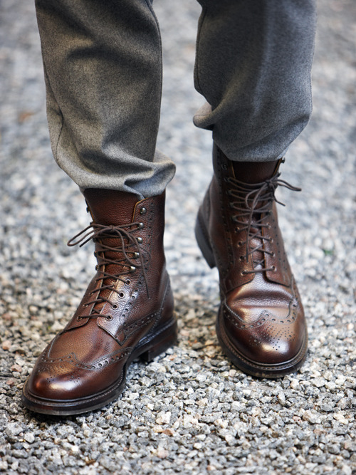g-she:  Crockett & Jones Islay Wingtip Boots  |  A helluva pair at $735