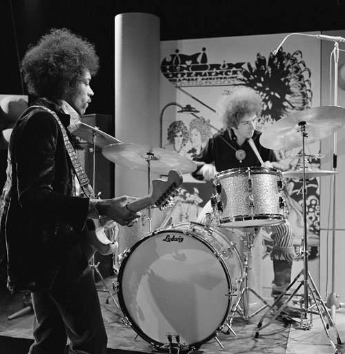 Mitch Mitchell with Jimi Hendrix