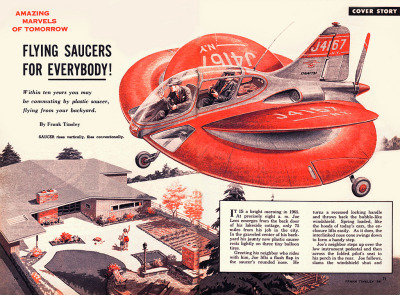 nellodee:  copyranter: In ten years, we'll be commuting by flying saucer (1954 prediction).