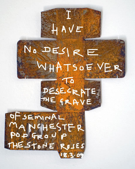 "In March 2009, former Stone Roses guitarist John Squire created the above work of art and said ""I'd rather live my life than attempt to rehash it. Even if [Stone Roses vocalist] Ian [Brown] and I were still double dating as we did in our teens then the prospect of a reunion wouldn't interest me at all.""  On the day he released it I posted it to my Tumblr and added:  ""John Squire kills the rumours of a Stone Roses reunion tour. I shed a guilty tear, knowing that I'd love to see them live, but accept that they'd almost certainly be shit.""  Today the Stone Roses - one of my favourite bands when I was about 16 - announced their reunion, and my thoughts have not changed one bit."