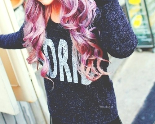 I wish I could dye my hair lilac.