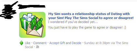Saw this on your Facebook. I know this is just a game that you play. But I think that means I lost.