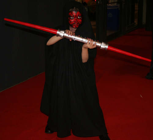 Mini Maul at New York Comic Con. I think this is the littlest Darth Maul I've ever seen. So. cute.