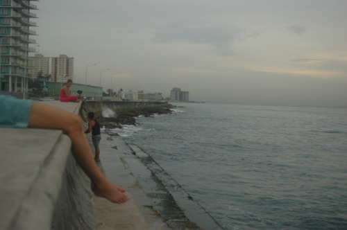 After three days of rain finally ended decided to chill on the Malecon, where Havana meets the ocean and the ocean meets Havana. One of my favorite places to go.