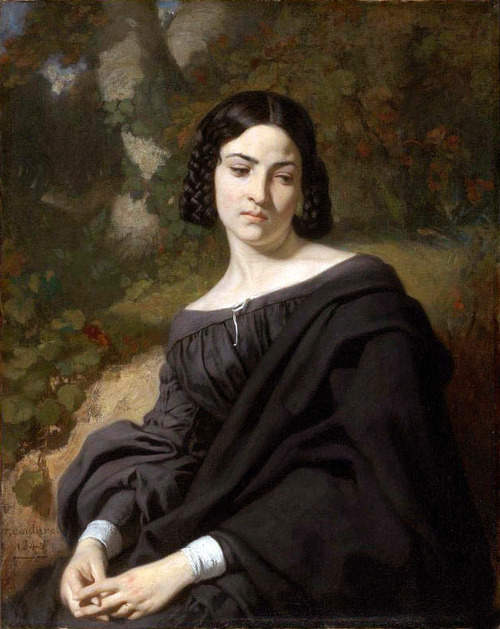 'A Widow' by Thomas Couture