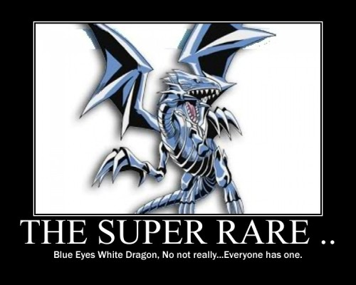 yashigirl09:  Blue Eyes White Dragon by *ElhayymAngel23  I have like four just lying around my room. I use one of them AS A COASTER FOR MY DRINK