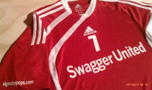 Swagger sick kit. - DJ xsanti37x:  Oh how I miss playing for Swagger United….. I need to get surgery on my knee ASAP!