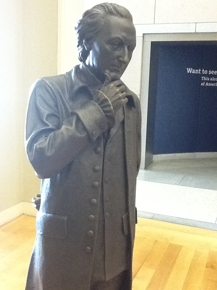 Doing a little self-guided history tour during my lunch break in Philadelphia. Stopped in to check out the National Constitution Center and was beyond impressed (also slightly creeped out) by Signers' Hall. Life-sized historically accurate bronze statues of