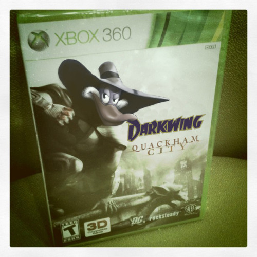 Let's. Get. Dangerous. I think we need a Darkwing Duck game in the style of Batman: Arkham City. Darkwing: Quackham City. Featuring GizmoDuck and Launchpad DLC skins.