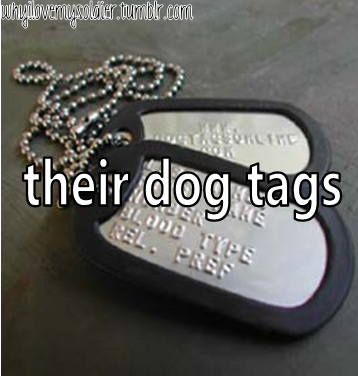 their dog tags
