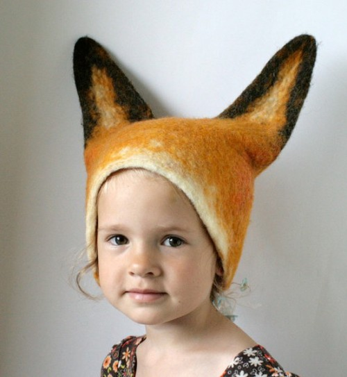 negrablack:    Fox Hat — Hand Felted Wool