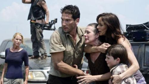 Sunday's Season 2 premiere of AMC's The Walking Dead shattered basic cable ratings records. The 90-minute episode drew 7.3 million total viewers, becoming the strongest telecast for any drama in basic cable history among two key demos. The zombie drama based on Robert Kirkman's long-running comics drew 4.8 million viewers in the advertiser-coveted adults 18-49 demographic, 4.2 million adults 25-54 and registered a 4.8 household rating, shattering a nearly 10-year-old basic cable record among the demos for a single drama telecast. How amazing is this?! This goes to show one of two things: 1. they have the best, most supportive fans ever & 2. the show is fucking badass. xoxo, Tyler