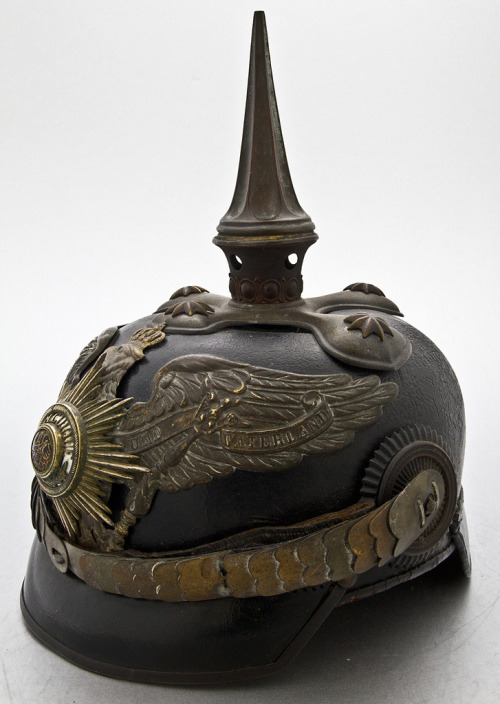 instahlgewittern:  Imperial Prussian Pickelhaube for General of 1st Dragoon Guards  Man, those Germans sure knew how to make intimidating helmets! (WWI)