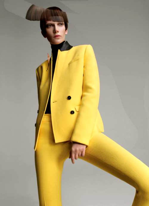 Costume National goes ultra-modern for its fall 2011 campaign featuring Valerija Kelava. Lensed by Glen Luchford, the fall collection's sleek lines and vibrant hues really shine in the layered images.