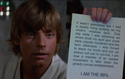 Luke Skywalker is part of the 99%. #occupywallstreet #ows