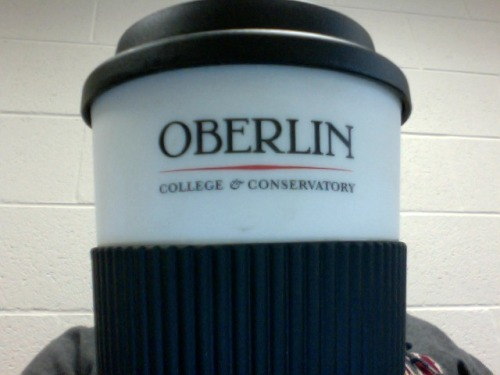 roflcoffee:  MY COFFEE MUG IS BETTER THAN YOUR COFFEE MUG  Oberlin swag on coffee mugs = so appropriate.