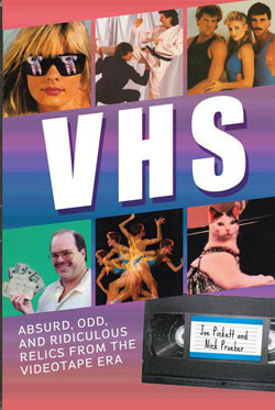 VHS: Absurd, Odd, and Ridiculous Relics from the Videotape Era is a brand new book from the guys behind the always hilarious Found Footage Festival. I have one copy to give away. I secretly want to keep it for myself but I'm super selfless so here we go!  The first person to email imremembering@gmail.com will get a book. You must put VHS in the subject line of the email to be eligible.  Only winners will be notified. Good luck!