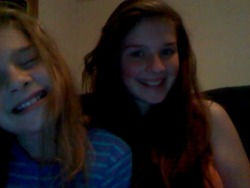 This is me and my beautiful 10 year old sister Rachel (: (sorry her eyes are closed she doesn't like looking at herself in mirrors/webcams and stuff). She was diagnosed with PDD-NOS at the age of three and she has taught me more than anyone else ever can. Autism Counts!