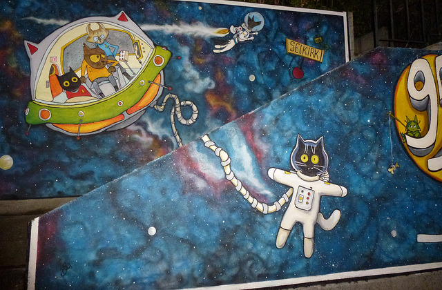 Space Cats Mural by Alejandro Erickson on Flickr.