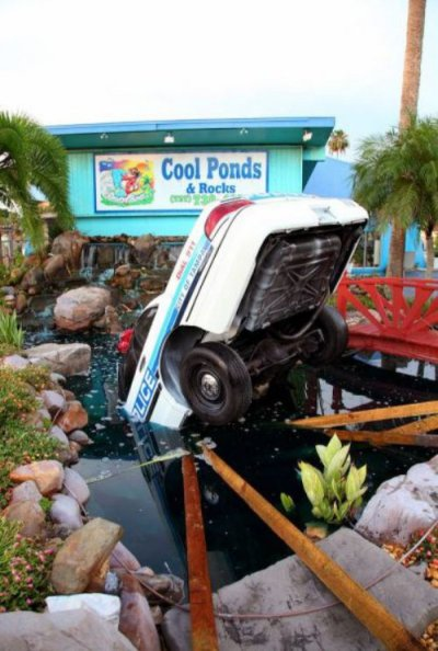 collegehumor:  Police Car Crashes Into Water Don't worry, all the confiscated drugs in the trunk are OK.  So is it possible to charge a cop for a DUI?