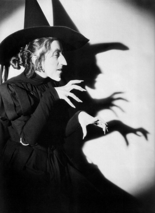 "Scariest witch ever.  Margaret Hamilton in ""The Wizard of Oz."""